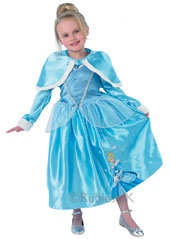Winter Wonderland Cinderella Costume, includes long sleeved dress and cape.