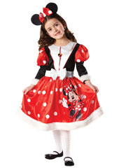 From her dotty bow and unmistakable ears to the furry tips of her sleeves and skirt, you'll love this Minnie Mouse Winter Wonderland dress. It will make quite a splash at any party and is sure to catch Mickey's eye. Winter Wonderland Minnie Mouse Cos