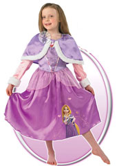 Winter Wonderland Rapunzel Costume, includes dress and cape.