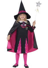 Witch School Girl Costume, includes jumper, skirt, hat and cape.