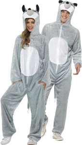 Wolf Costume, includes jumpsuit with hood.