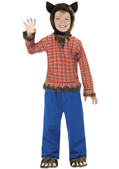 Wolfie Costume, includes shirt, trousers, headpiece and shoe covers.