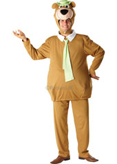 Yogi Bear Costume, includes tunic with attached collar and tie, trousers and character headpiece.