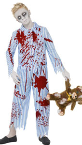 Zombie Pyjama Boy Costume, includes top and trousers.