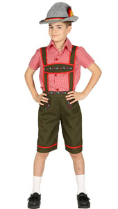 Alpine Boy Costume includes shirt and overall