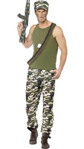 Army Costume includes top, trousers and hat