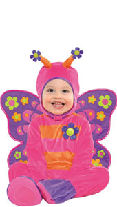 Baby Deluxe Flutterby Butterfly Costume includes jumpsuit, detachable wings and hood