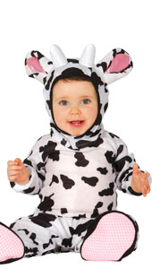 Baby Cow Costume includes jumpsuit with tail  hood and feet