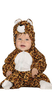 Baby Leopard Costume includes jumpsuit with hood and tail