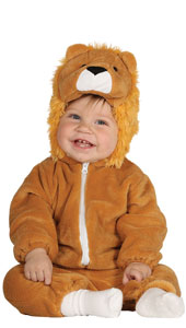Baby Lion Costume includes jumpsuit with hood and tail