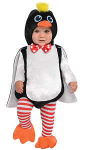 Waddles Penguin Costume includes jumpsuit, hood, tights and booties