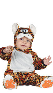 Baby Tiger Costume includes jumpsuit with feet and hood