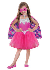 Barbie Power Princess Costume includes dress, cape and mask