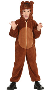 Child Bear Costume includes jumpsuit with hood and tail