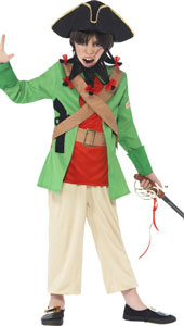 Horrible Histories Blackbeard Costume includes jacket, trousers, shoulder belts, hat and beard.