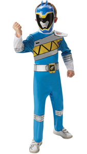 Dino Charge Blue Power Ranger Costume includes jumpsuit and mask.