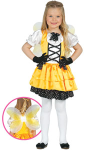 Yellow Butterfly Costume includes dress and wings