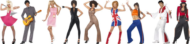 Celebrities and Icons Fancy Dress Costumes