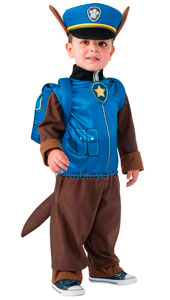 PAW Patrols Chase Costume (the police pup) includes jumpsuit, headpiece and backpack