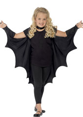 Vampire Bat Wings with High Collar
