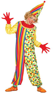 Child Clown Costume includes jumpsuit and hat