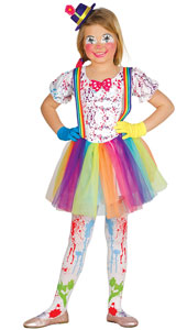 Girl Clown Costume includes dress and hat