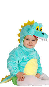 Baby Crocodile Costume includes tunic with hood and tail