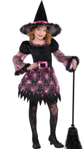 Darling Witch Costume includes:  Witch hat Dress