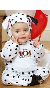 Disney 101 Dalmations Patch All-In-One Romper with Feature Hat