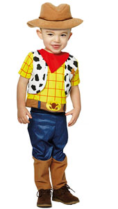 Disney Baby Woody Sheriff Costume includes trousers, top with waistcoat, neckerchief and hat