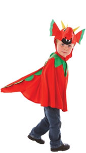 Friendly Dragon Costume includes a hooded tabard with head, back and tail detailing