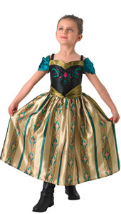 Frozen Coronation Anna Costume includes dress only.