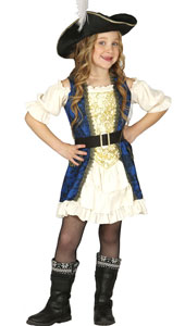 Girls Pirate Costume includes dress  belt and hat