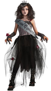 Step out and wow the crowds on Prom night or Halloween - this Gothic confection will turn heads a whole 360 degrees and send chills up their disconnected spines! Wear your sash and tiara with pride. It's perfectly zombielicious!