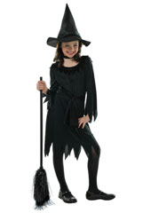 Lil Witch Costume includes:  Witch hat Witch dress Belt