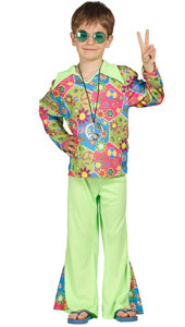 Hippie Boy Costume includes shirt and trousers