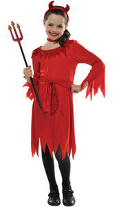 Lil Devil Costume includes:  Dress Red choker Belt Headband