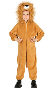 Child Lion Costume includes jumpsuit with hood and tail