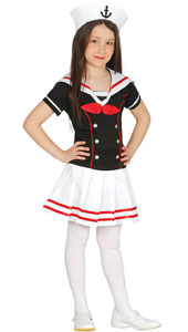 Marine Girl Costume includes dress and hat