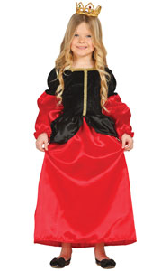 Girls Medieval Cortesan Fancy Dress Costume includes dress only