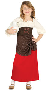 Girls Medieval Innkeeper Costume includes dress only