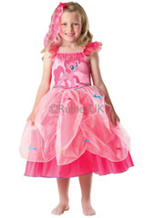 My Little Pony Pinkie Pie Princess Costume includes dress and hairpiece.