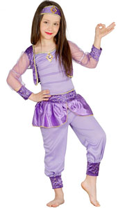 Oriental Dancer Costume includes top  trousers and headpiece