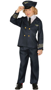 Child Pilot Fancy Dress Costume includes hat  jacket and trousers