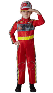 Cars Racing McQueen Costume includes jumpsuit with moving lenticular graphic and fabric cap