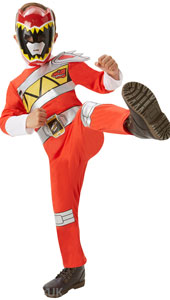 Dino Charge Red Power Ranger Costume includes jumpsuit and mask.