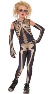 Skellee Girl Costume, Contains Top, Jeggings & Gloves