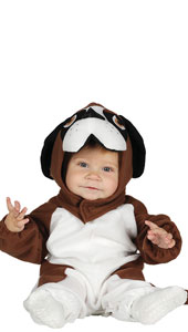 Baby St Bernard Costume includes jumpsuit with tail and hood