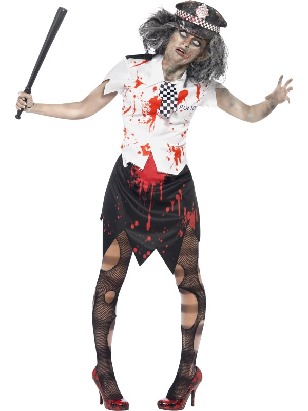 Zombie Policewoman Costume Fancy Dress Costumes & Party Supplies Ireland - LittleStarParties Online Party Shop