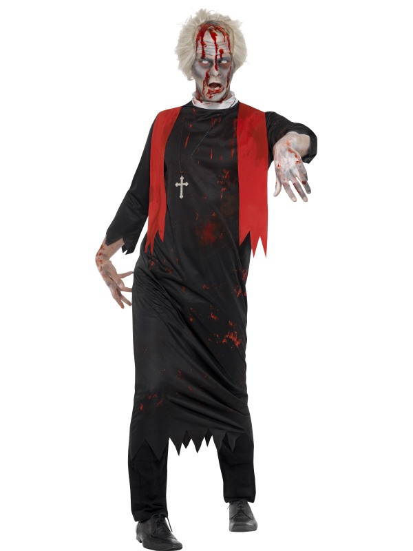 mens halloween zombies priests robes costumes